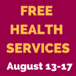 Free Pap Test and Other Health Services! August 13-August 17, 2018