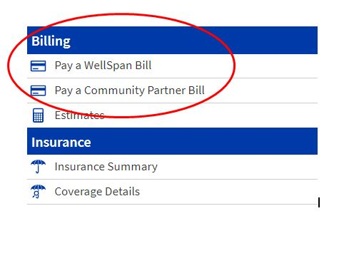"""Image showing """"pay a community partner bill"""""""